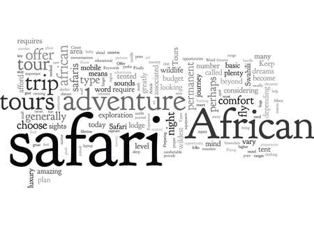 African Safari Tours Offer A Unique Experience 向量圖像