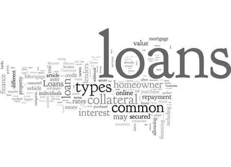 A Look at Common Types of Loans