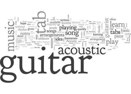 Tabulación de guitarra acústica Ilustración de vector