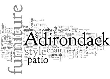 Adirondack Furniture Good For Any Patio Dcor