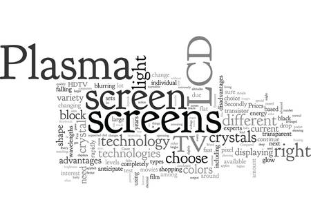 Advantages And Disadvantages Of Plasma And Lcd Screens Illustration