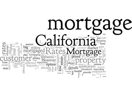 A Guide To California Mortgage Rates Illustration