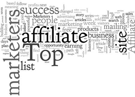 Affiliate Tips For The Top Of Affiliate Marketers Illustration
