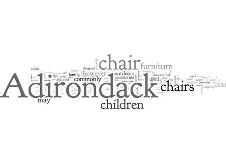 Adirondack Chairs for Children Illustration