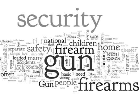 A Closer Look At Gun Security Иллюстрация