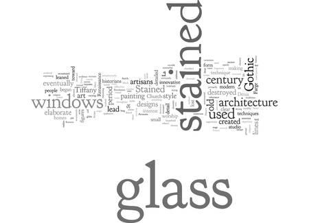 A Brief History of Stained Glass Ilustração