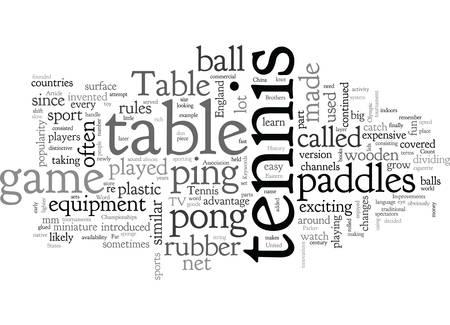 A Brief History Of Table Tennis Ilustração