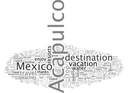 Acapulco, uno de los principales destinos turísticos de México Ilustración de vector