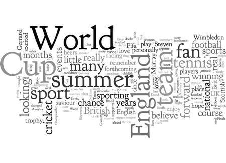 A Summer Of Great British Sport Illustration