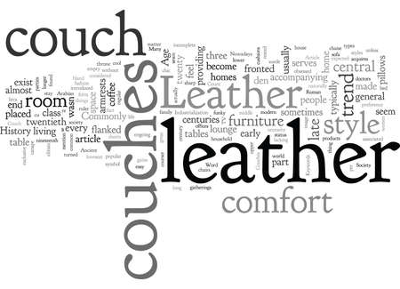 A Brief History Of Leather Couches