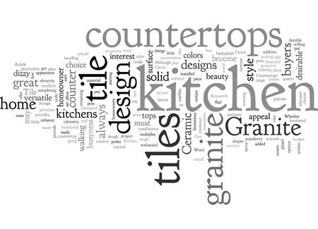 About Ceramic Tile Kitchen Countertops