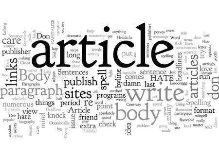 A Publisher s Rant Why I Hate The Body of Your Article