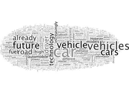 Een subjectief inzicht in de toekomstige auto Vector Illustratie