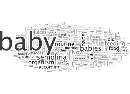 Un nouveau régime pour un bébé Vecteurs