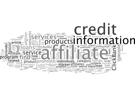 Affiliate Oppurtunity The Bad Credit Market Illusztráció