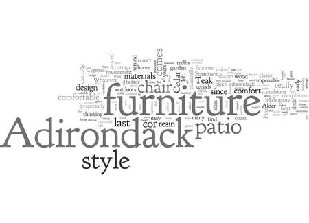 Adirondack Furniture Good For Any Patio Decor Illustration