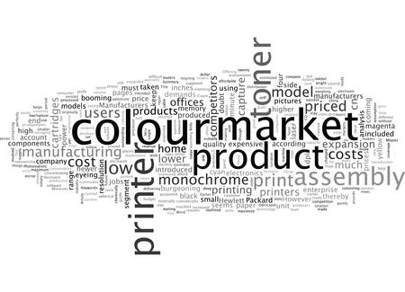 A market study of colour printers Иллюстрация