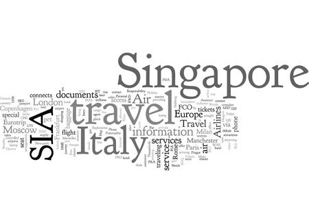 Air singapore travel italy