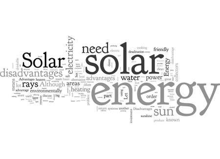 Advantages and Disadvantages of Solar Energy Banco de Imagens - 132108617
