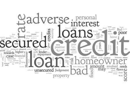 Adverse Credit Secured Homeowner Loans 向量圖像