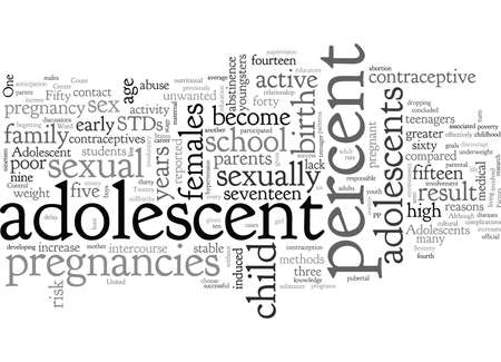 Adolescent Pregnancy Illustration