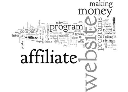 Affiliate Programs A Tool For Webmasters To Earn Money Banco de Imagens - 132108714
