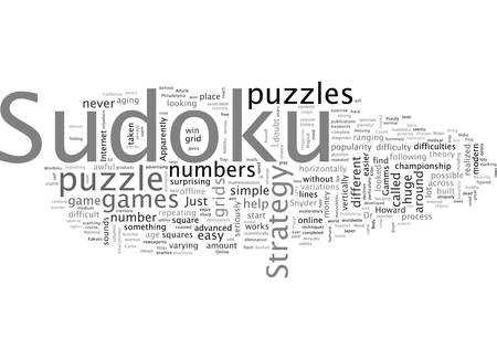 A Sudoku Strategy Or Just A Puzzle