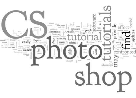 Advantages Of Cs Photo Shop Tutorials