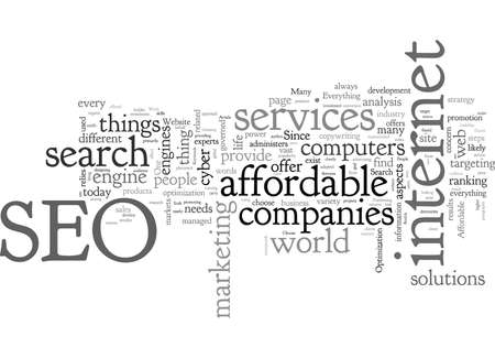 Affordable SEO Services That Works 일러스트