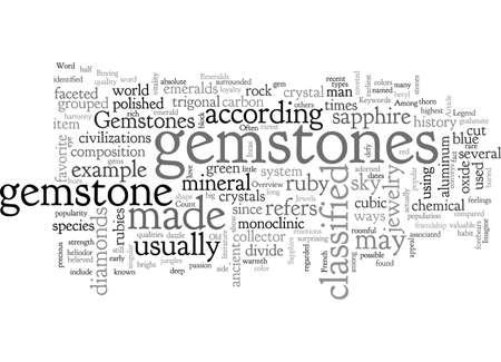 An Overview Of Gemstones Illusztráció