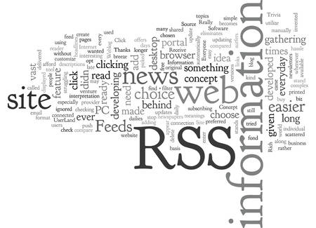 An Overview of the Concept behind RSS Feeds