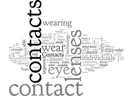 Are Contacts Right For You 向量圖像