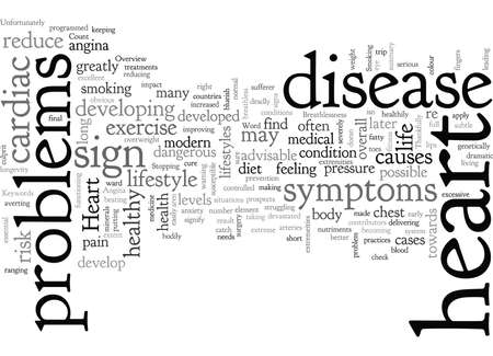Una descripción general de las enfermedades cardíacas Ilustración de vector