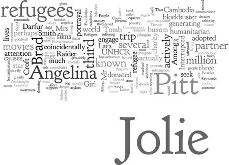Angelina Jolie and her Humanitarian Efforts Stock Illustratie