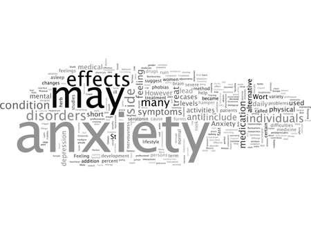 Anxiety and the Perfect Anti Anxiety Treatment Vektoros illusztráció