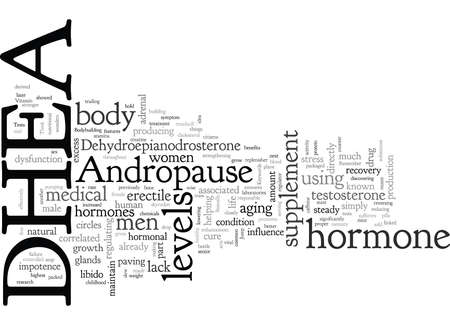 Andropause and DHEA Illustration