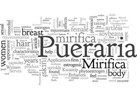 Applications de Pueraria Mirifica Vecteurs