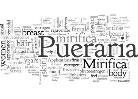Applications Of Pueraria Mirifica