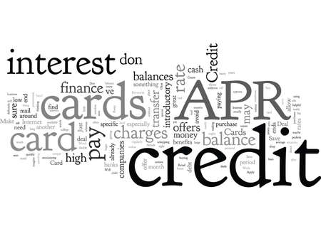 APR Credit Cards Make It Possible To Save Money 일러스트