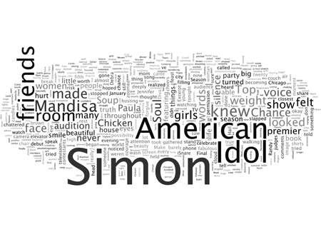 En de top ook van kippensoep voor de American Idol Soul Vector Illustratie