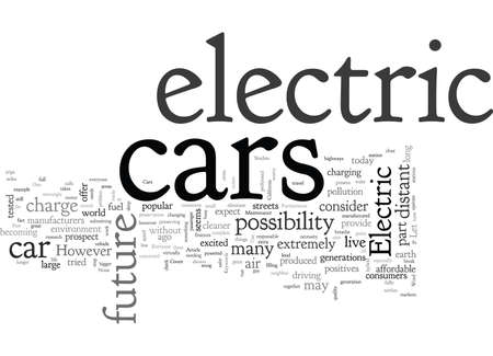 Are Electric Cars A Part Of Your Future Ilustrace