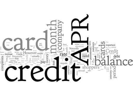 APR Credit Cards What You Need to Know
