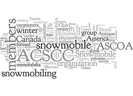 Antiker und klassischer Schneemobilclub von Kanada