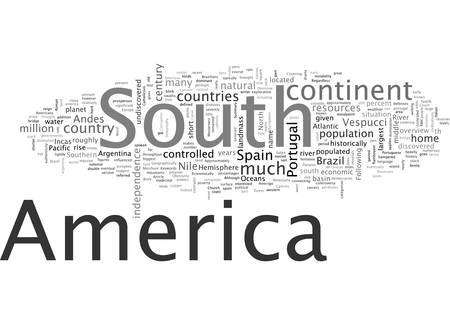 An Overview of South America 向量圖像