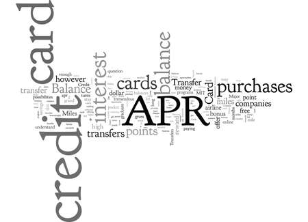 APR Balance Transfers Credit Cards Three Top Choices