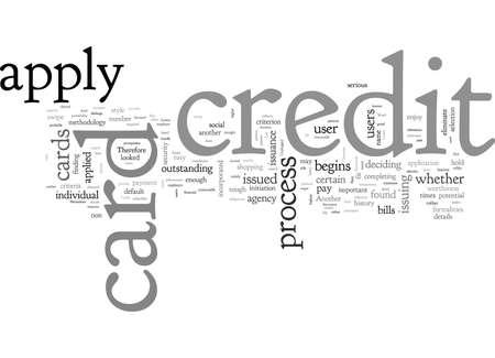 Solicite tarjetas de crédito Las necesidades básicas desconectadas Ilustración de vector