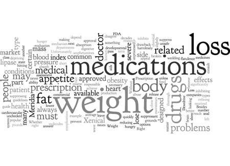 ¿Son los medicamentos para bajar de peso adecuados para usted? Ilustración de vector