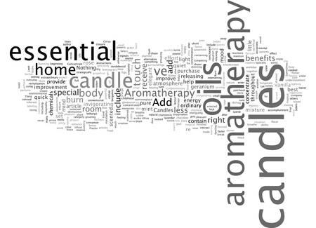 Aromatherapie-Kerzen Vektorgrafik