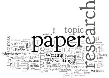 Anyone Can Write a Research Paper