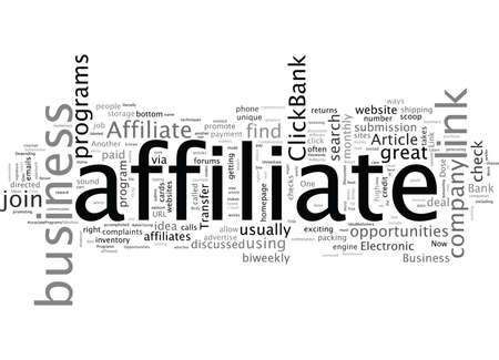 Are affiliate programs good business opportunities  イラスト・ベクター素材